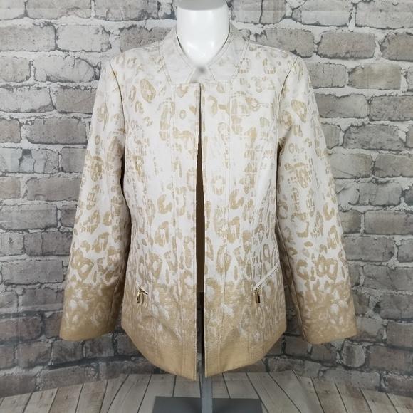 Chico's Jackets & Blazers - Chico's Leopard Print Open Blazer Size 1 Medium
